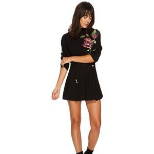Free People Gemma Tunic Dress in Black mini